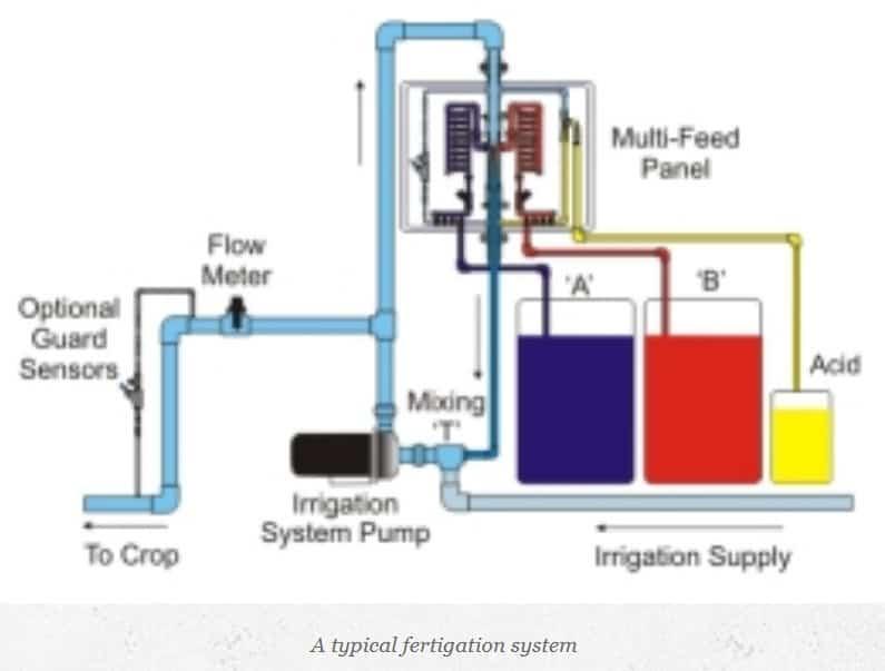 commercial simple fertigation system